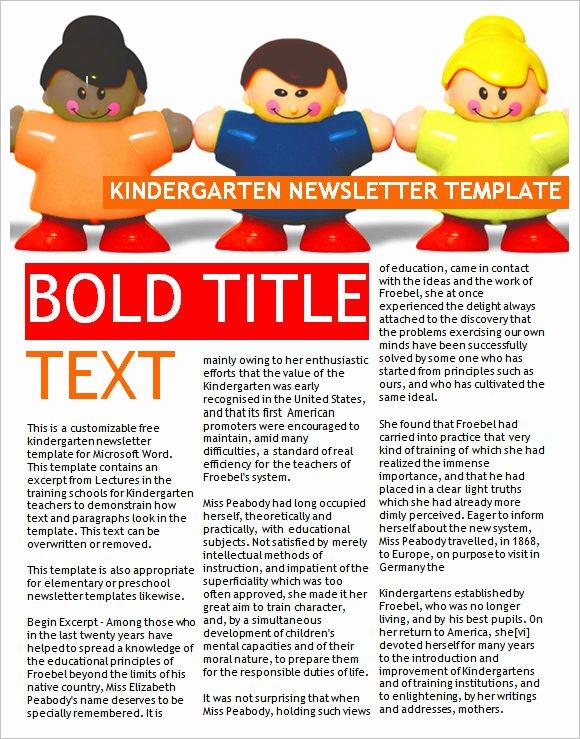 Preschool Newsletter Templates Free Elegant 10 Sample Kindergarten Newsletter Templates