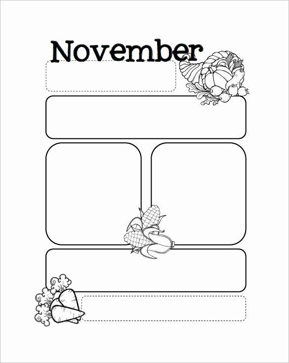 Preschool Newsletter Templates Free Fresh November Newsletter Templates Studiojpilates