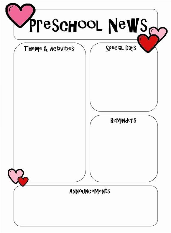 Preschool Newsletter Templates Free Inspirational 6 Best Preschool Newsletter Templates to Download
