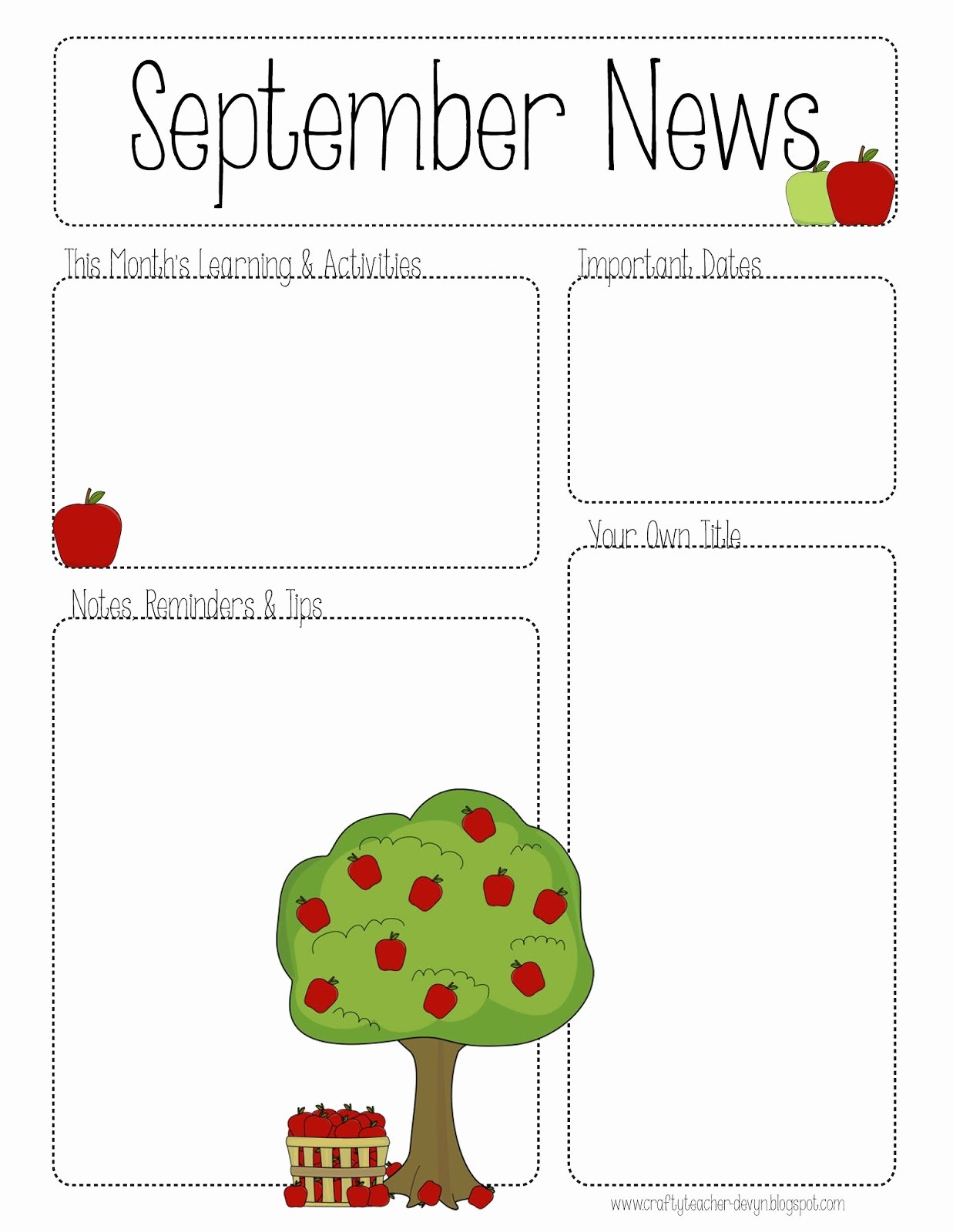 Preschool Newsletter Templates Free Unique September Printable Newsletter All Grades
