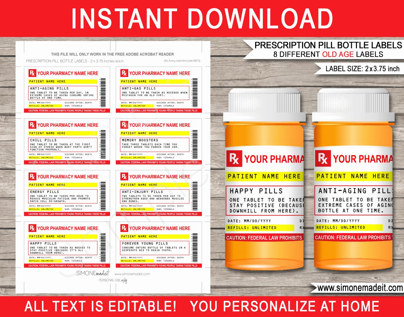 Prescription Bottle Label Template Best Of Gag Prescription Labels Template