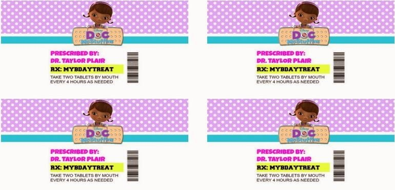 Prescription Bottle Label Template Lovely Printable Pill Bottle Labels Doc Mcstuffins Birthday Party