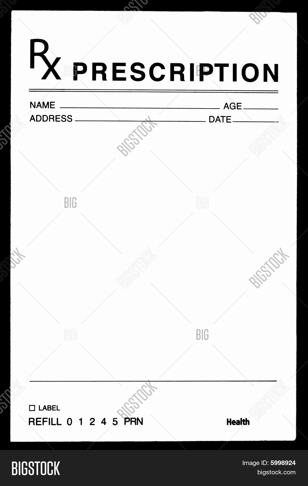Prescription Pad Template Microsoft Word Luxury Blank Prescription form Image Cg5p C