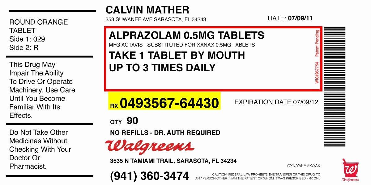 Prescription Pad Template Microsoft Word New Prescription Label Template Microsoft Word