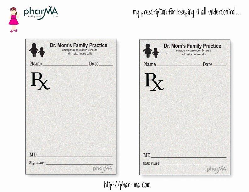 Prescription Pad Template Microsoft Word Unique Dr Mom S Prescription Pad the Pharma