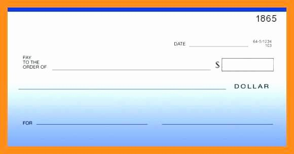 Presentation Checks Template Elegant 12 13 Blank Cheque Template Editable