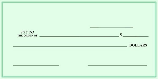 Presentation Checks Template Unique Sample Check Template