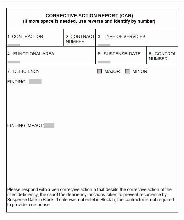 Preventive Action form Inspirational ford 8d Corrective Action Report Template – Guatemalago