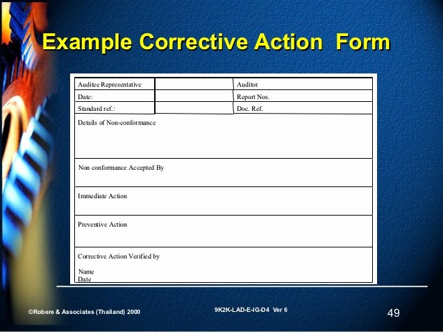 Preventive Action form Inspirational Slide 4 V6