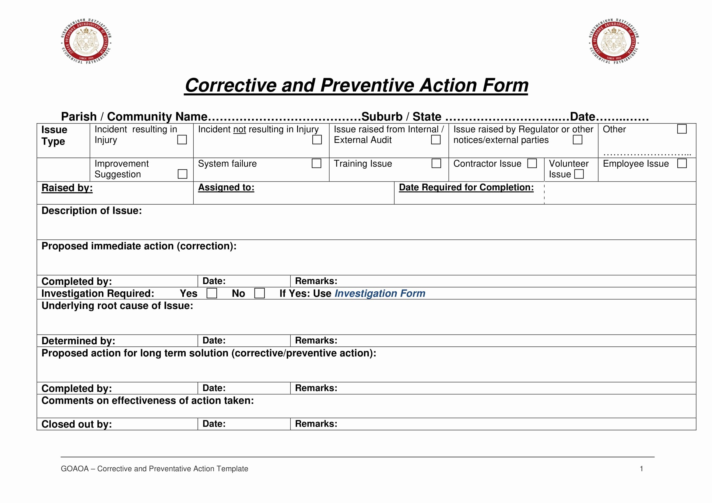 Preventive Action form Luxury 12 Corrective Action Report Examples Pdf