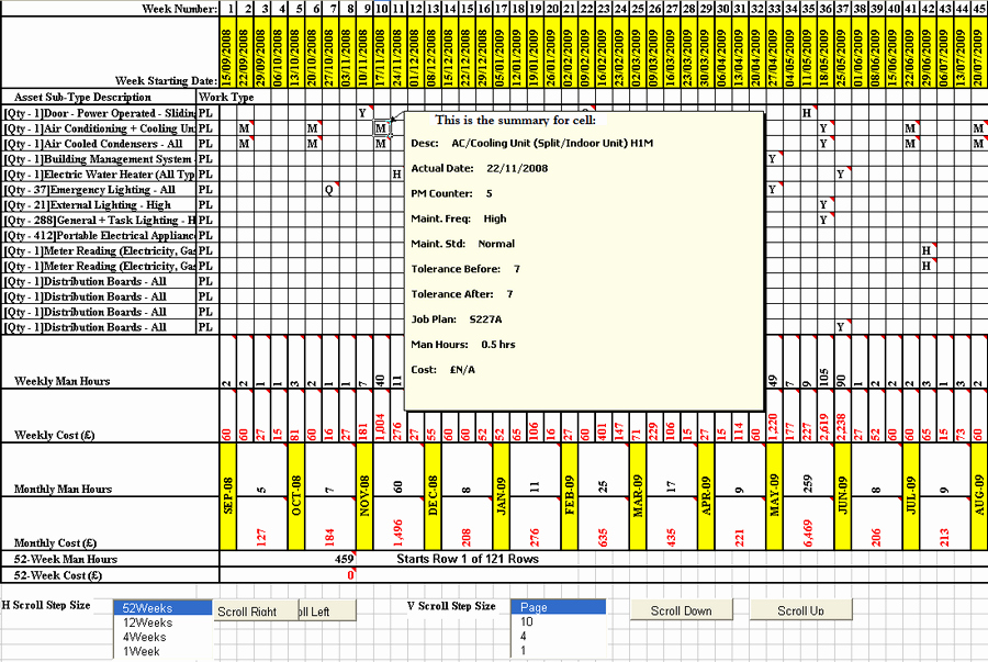 Preventive Maintenance Excel Template Inspirational Planned Maintenance Schedule Template
