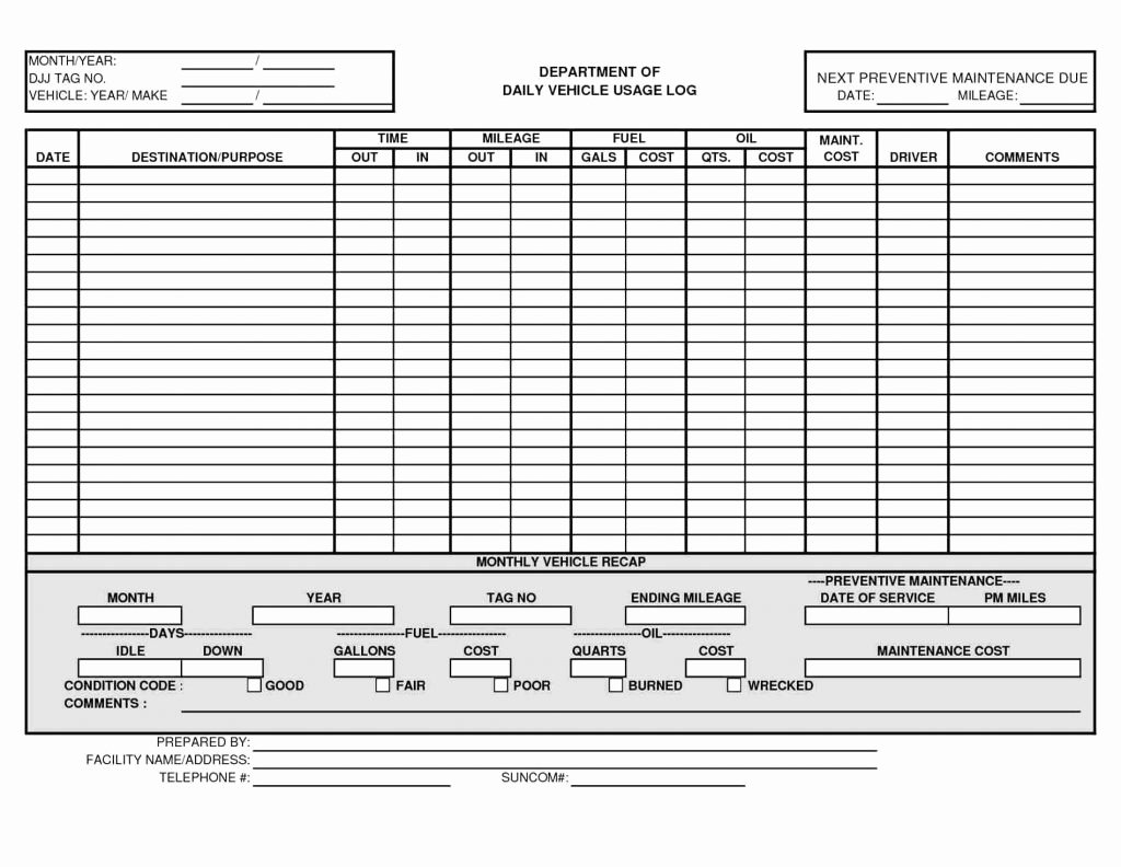 Preventive Maintenance Excel Template Luxury Fuel Log Excel Spreadsheet Google Spreadshee Fuel Log