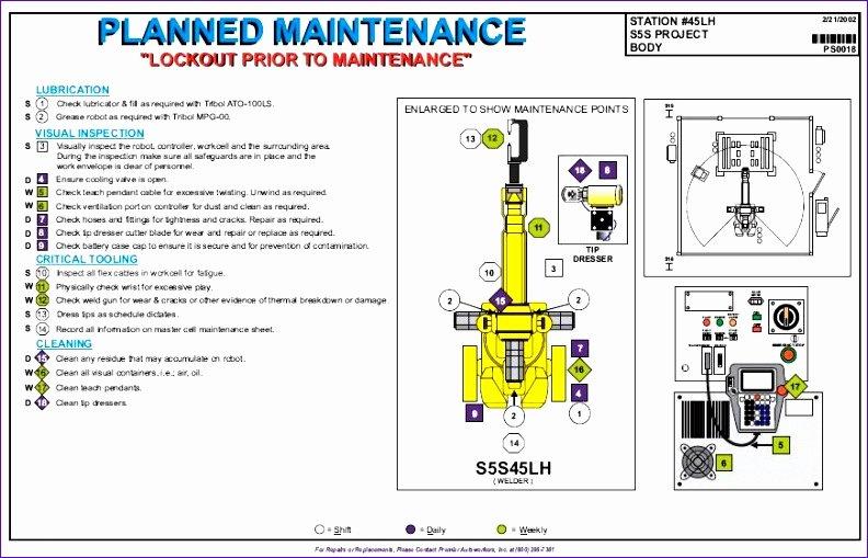 Preventive Maintenance Schedule format Pdf Beautiful 12 Process Flow Excel Template Exceltemplates
