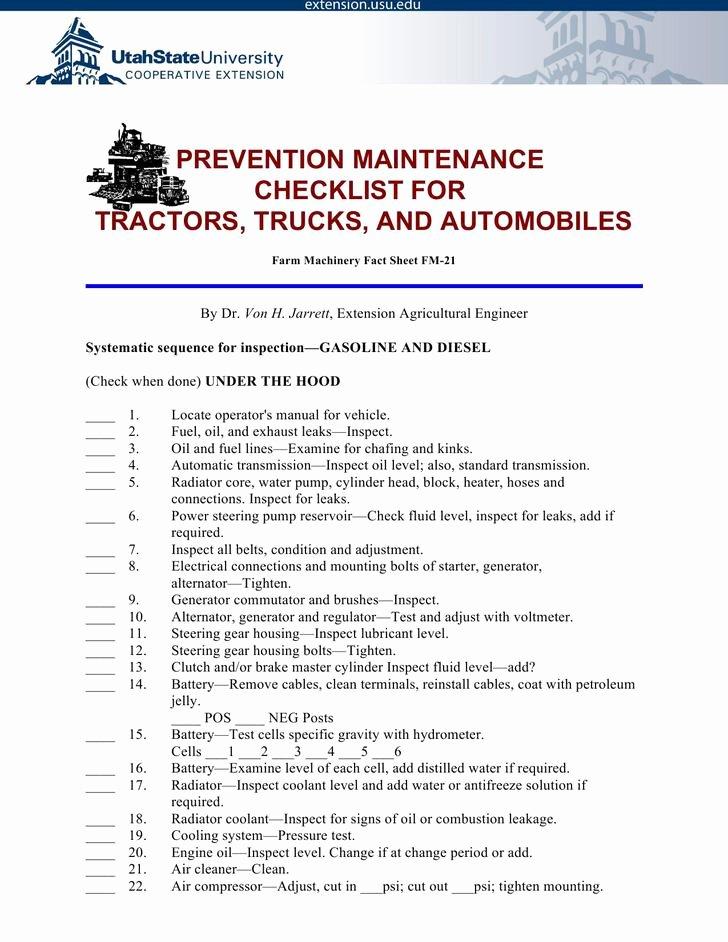 Preventive Maintenance Schedule Pdf Lovely 29 Preventive Maintenance Schedule Templates Free Download