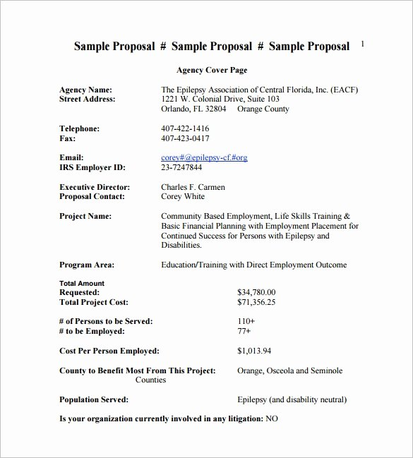 Price Proposal Template Lovely Cost Proposal Template 18 Free Word Pdf format