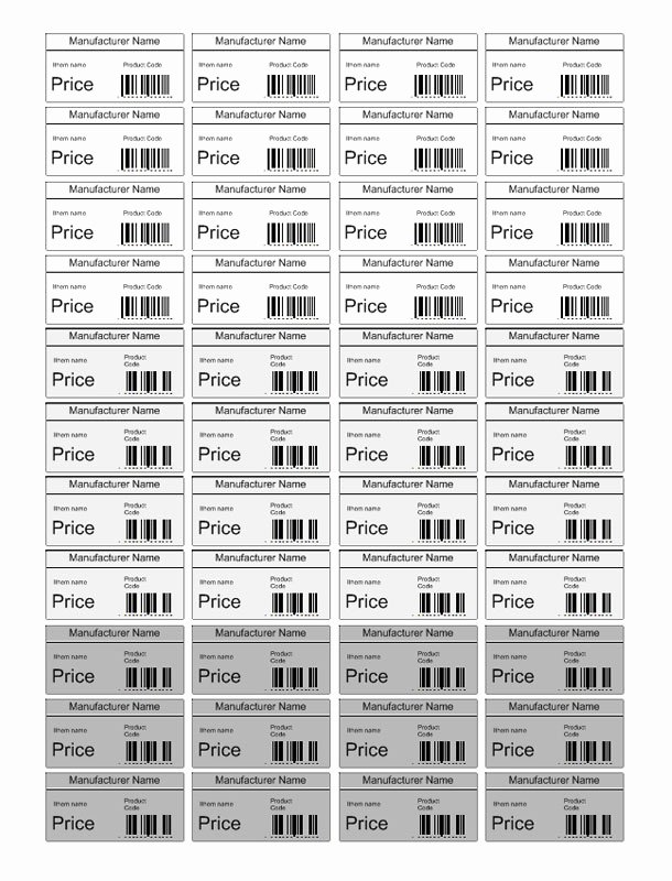 Price Tag Template Printable Best Of Price Tag Template Free Pricing Label Templates for