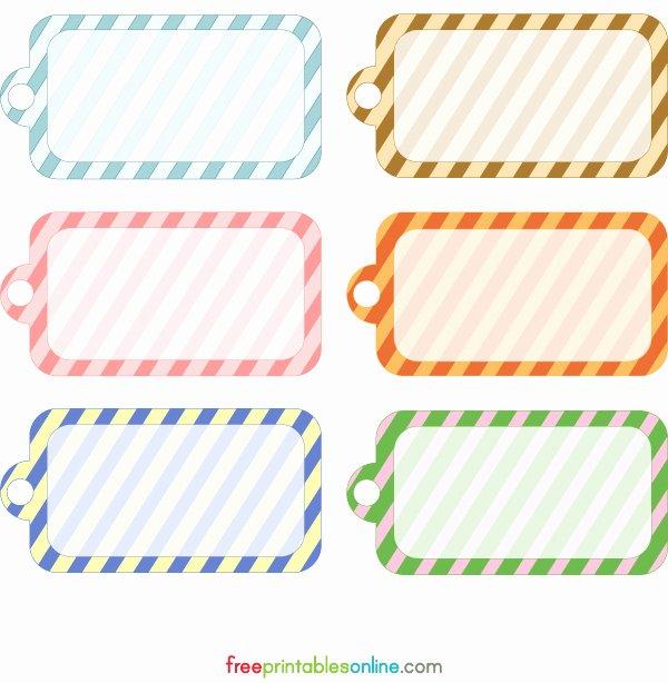 Price Tag Templates Printable Beautiful Blank Printable Simple Stripes Gift Tag Template Free