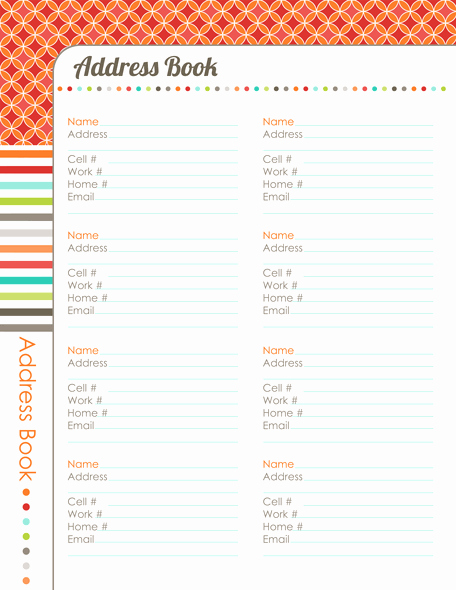 Printable Address Book Template Best Of organizing Planner the Harmonized House Project