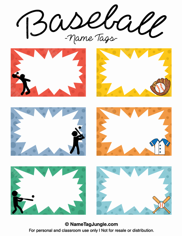 Printable Baseball Card Template Awesome Pin by Muse Printables On Name Tags at Nametagjungle