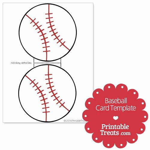 Printable Baseball Card Template Elegant Printable Baseball Card Template From Printabletreats