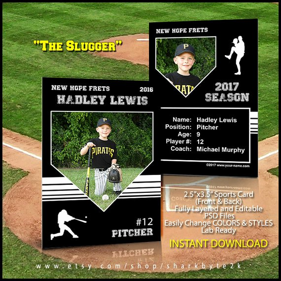Printable Baseball Card Template Fresh Baseball Card Template Perfect for Trading Cards for Your