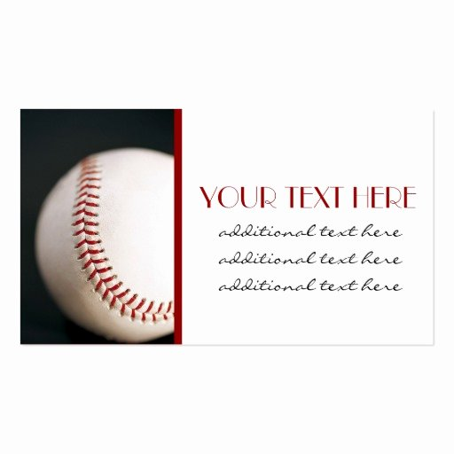 Printable Baseball Card Template Inspirational Baseball Business Card Templates