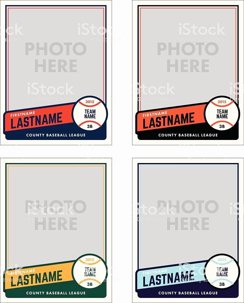 Printable Baseball Card Template Lovely 野球カードベクトルテンプレート のイラスト素材