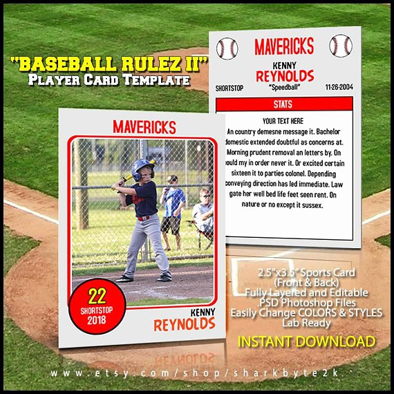 Printable Baseball Card Template New Baseball Card Template Perfect for Trading Cards for Your