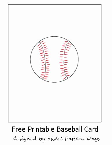 Printable Baseball Card Template Unique Free Printable Baseball Card