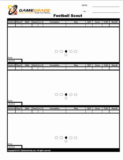Printable Blank Football formation Sheets Beautiful Football Scout Sheets