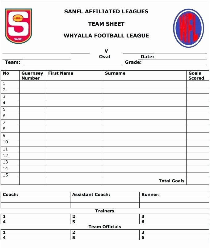 Printable Blank Football formation Sheets Luxury Football Squares Sheet Blank Team Template – Rightarrow