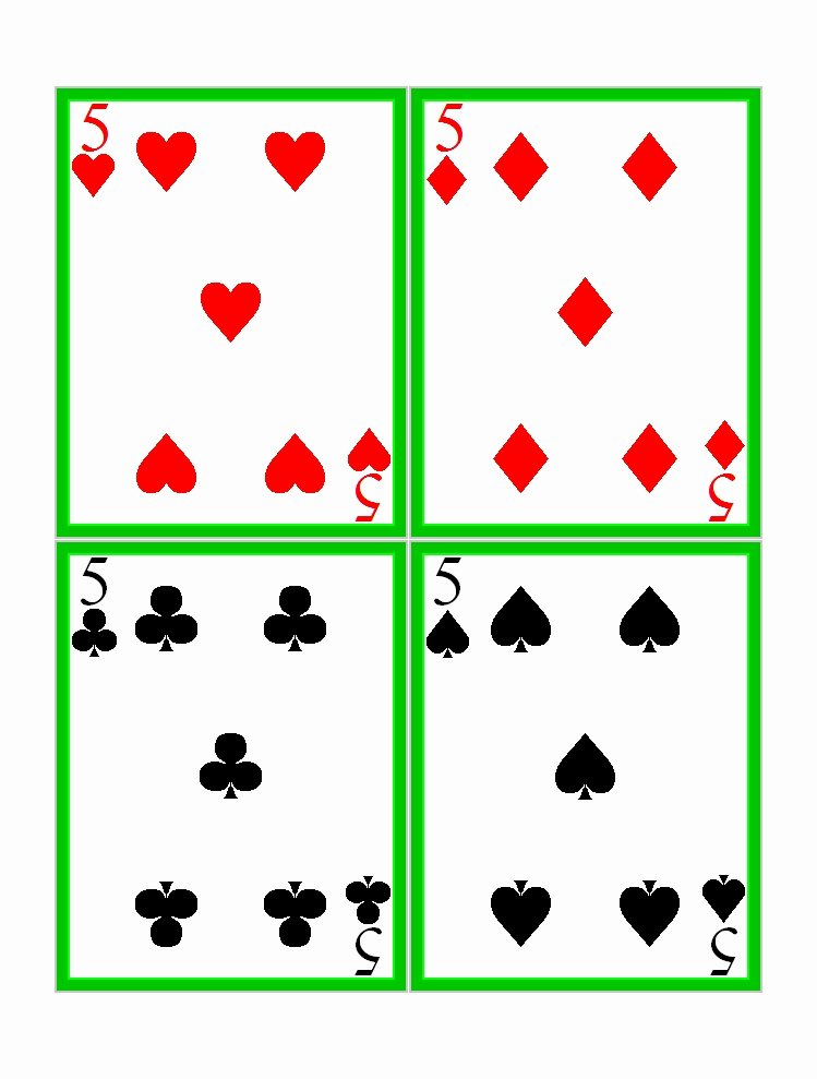 Printable Blank Playing Cards Awesome 17 Free Printable Playing Cards