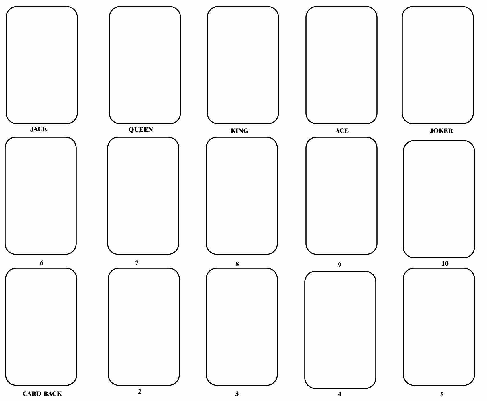Printable Blank Playing Cards Awesome Blank Playing Card Template E Day