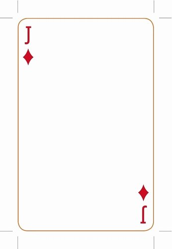 Printable Blank Playing Cards Awesome Playing Card Template