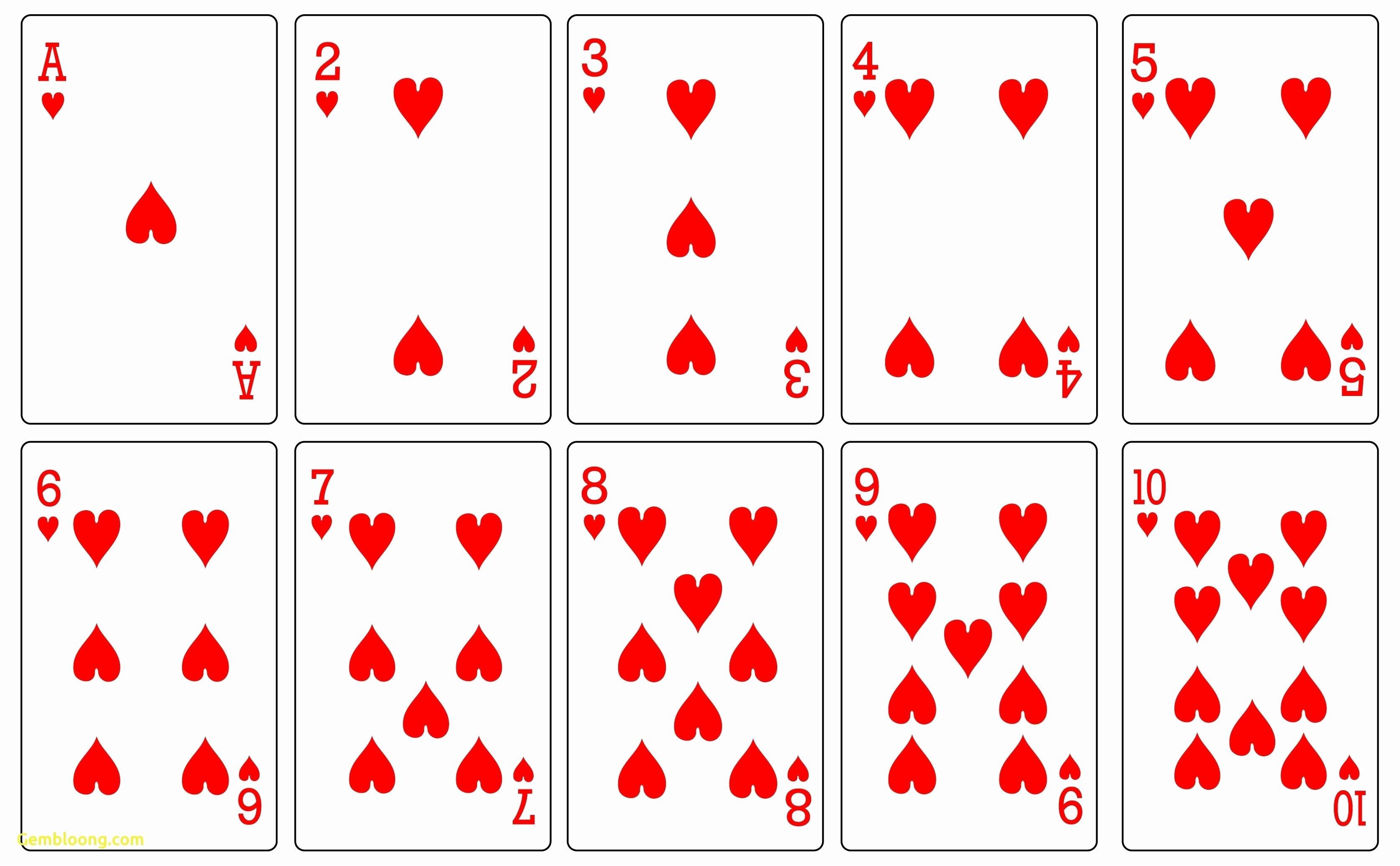 Printable Blank Playing Cards Beautiful 17 Free Printable Playing Cards