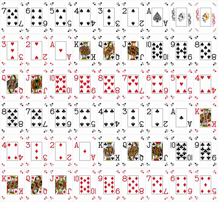 It is a photo of Fan Blank Printable Playing Cards