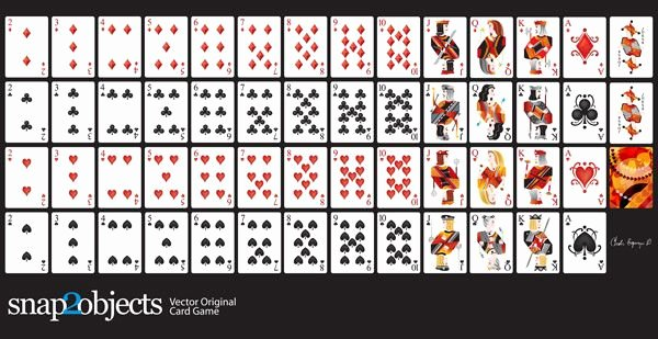 Printable Blank Playing Cards Best Of Free Vector Playing Cards Deck