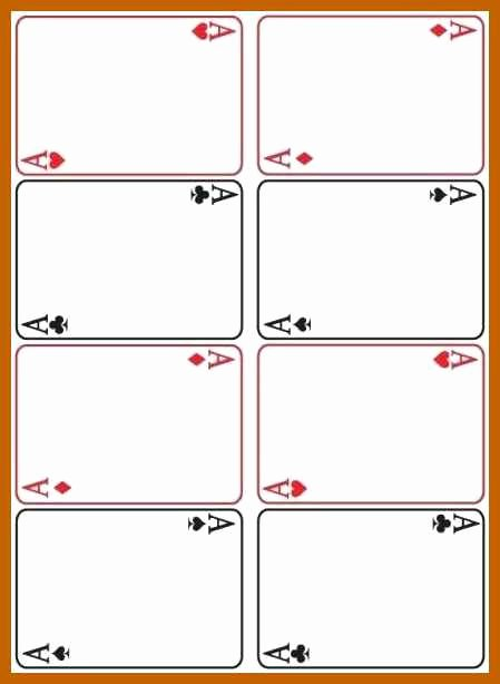 Printable Blank Playing Cards Fresh 9 10 Playing Card Templates