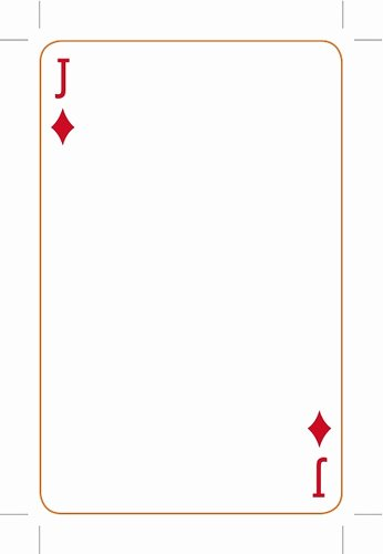 Printable Blank Playing Cards Fresh Best S Of Playing Card Templates for Word Playing