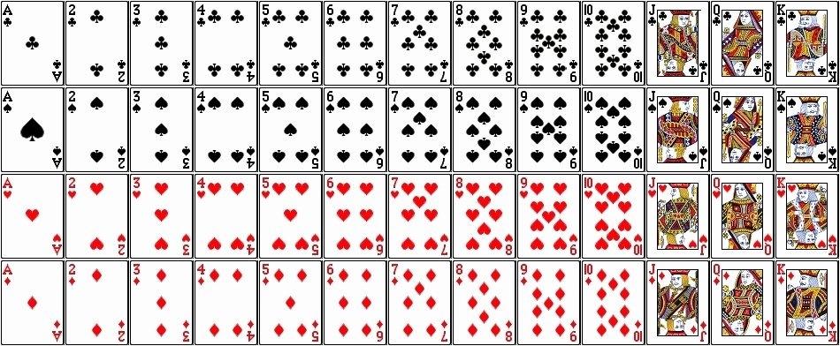 Printable Blank Playing Cards Inspirational Printable Playing Cards Pdf
