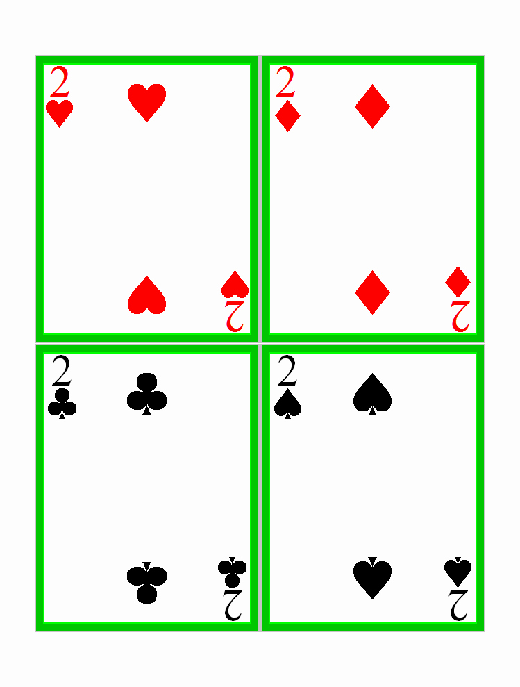 Printable Blank Playing Cards Lovely Best S Of Deck Cards Template Printable