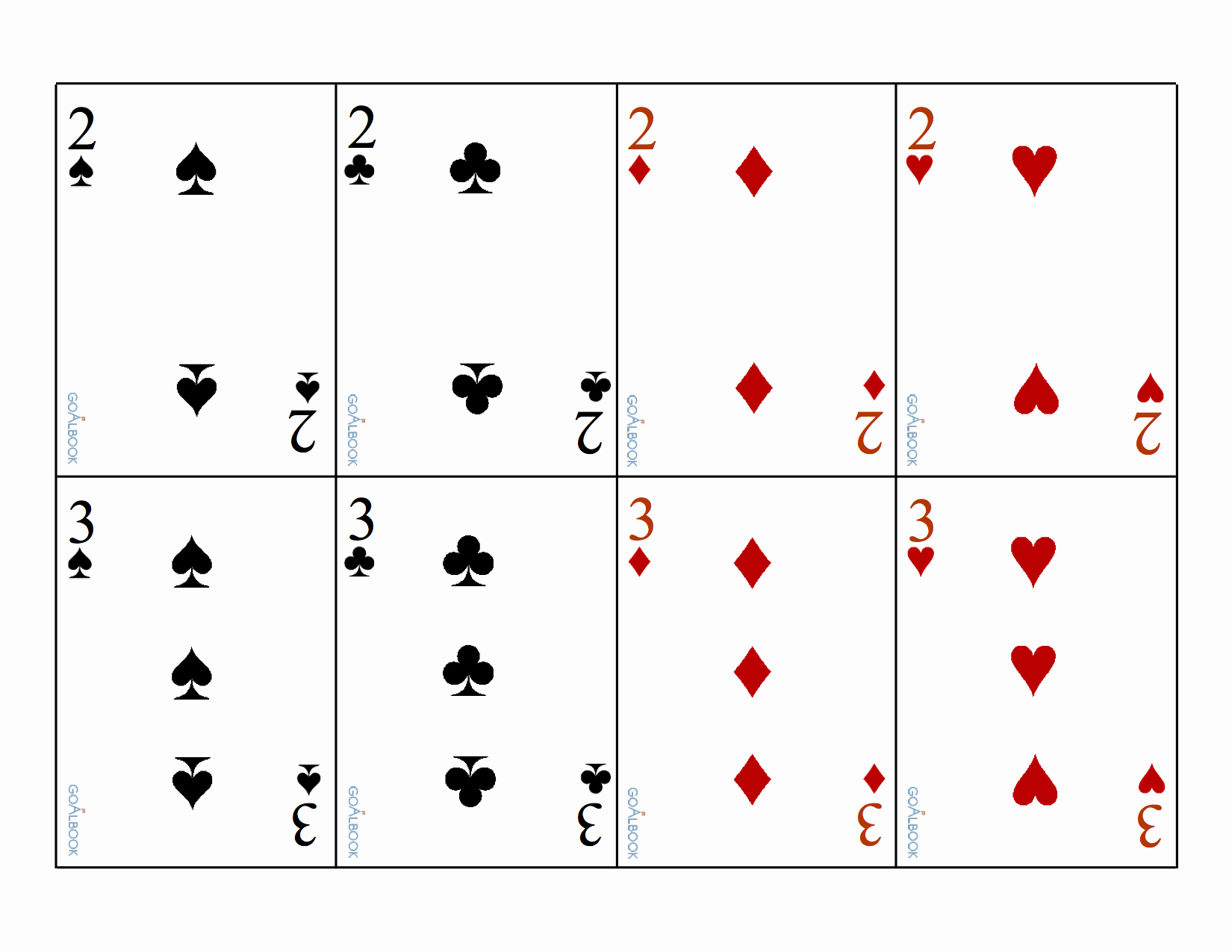 Printable Blank Playing Cards Luxury 17 Free Printable Playing Cards