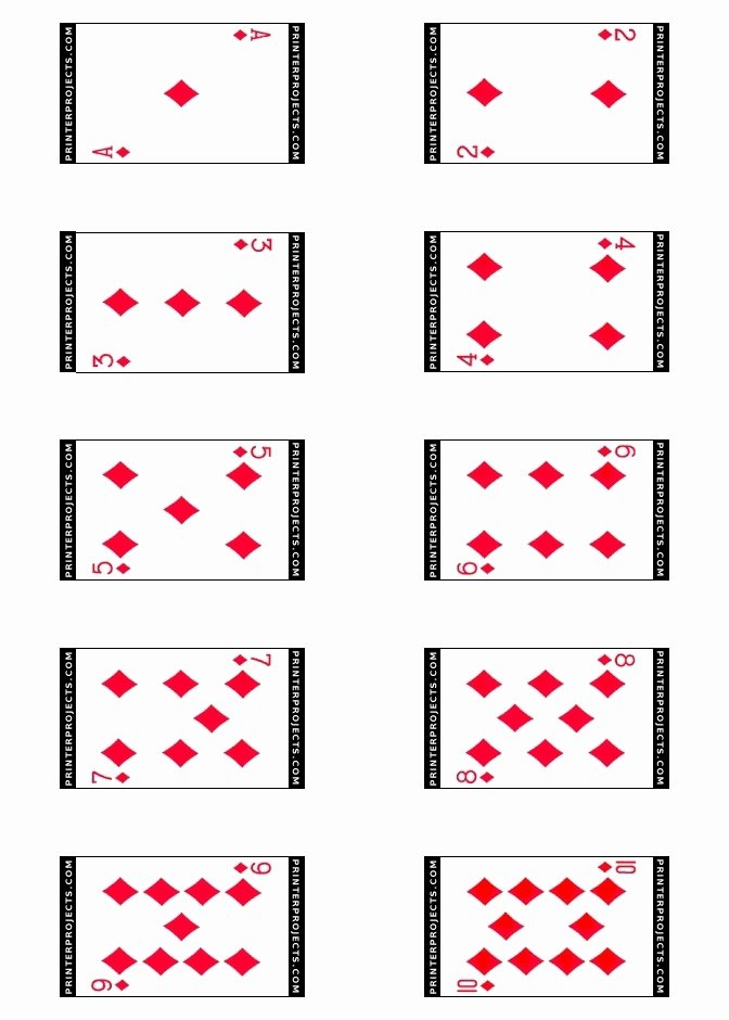Printable Blank Playing Cards New Best S Of Playing Card Templates for Word Playing