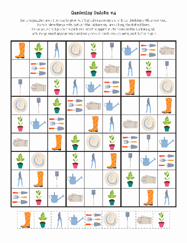 Printable Blank Sudoku 4 Per Page Awesome Gardening Sudoku Free Printables Gift Of Curiosity