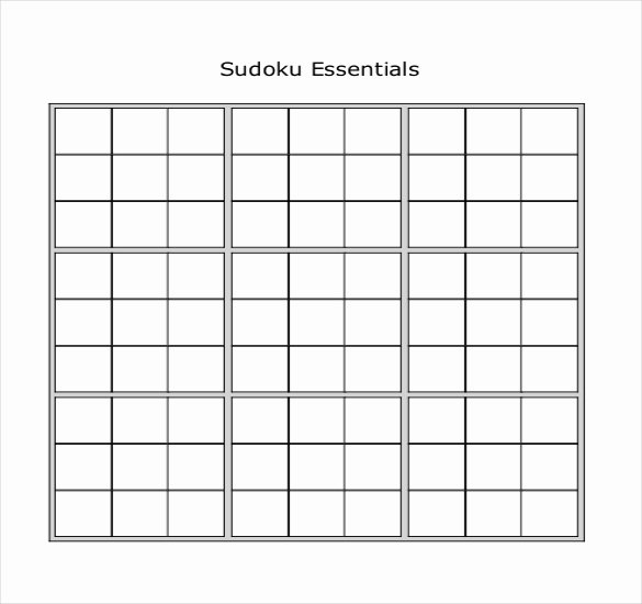 Printable Blank Sudoku 4 Per Page Awesome Sudoku Printable Puzzles 4 Per Page Best Games