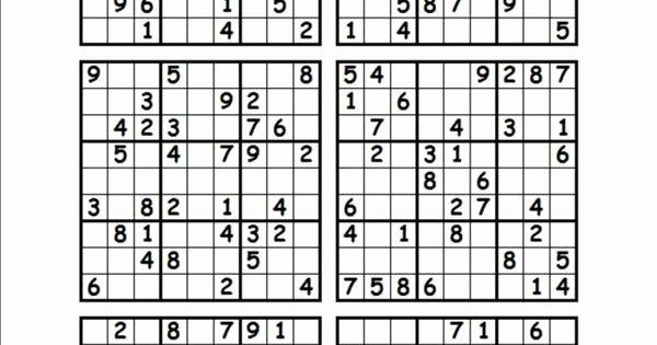 Printable Blank Sudoku 4 Per Page Best Of Printable Sudoku Puzzles 4 Per Page Best Games
