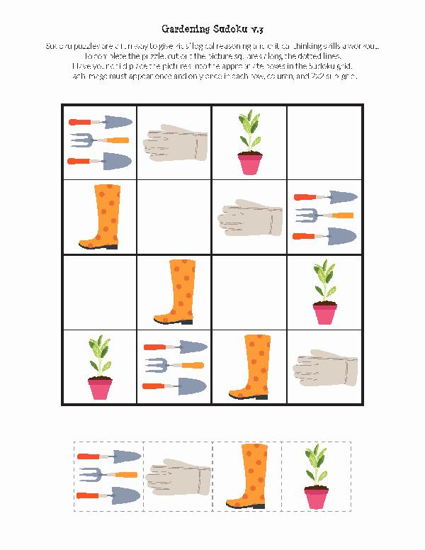 Printable Blank Sudoku 4 Per Page Fresh Gardening Sudoku Free Printables Gift Of Curiosity