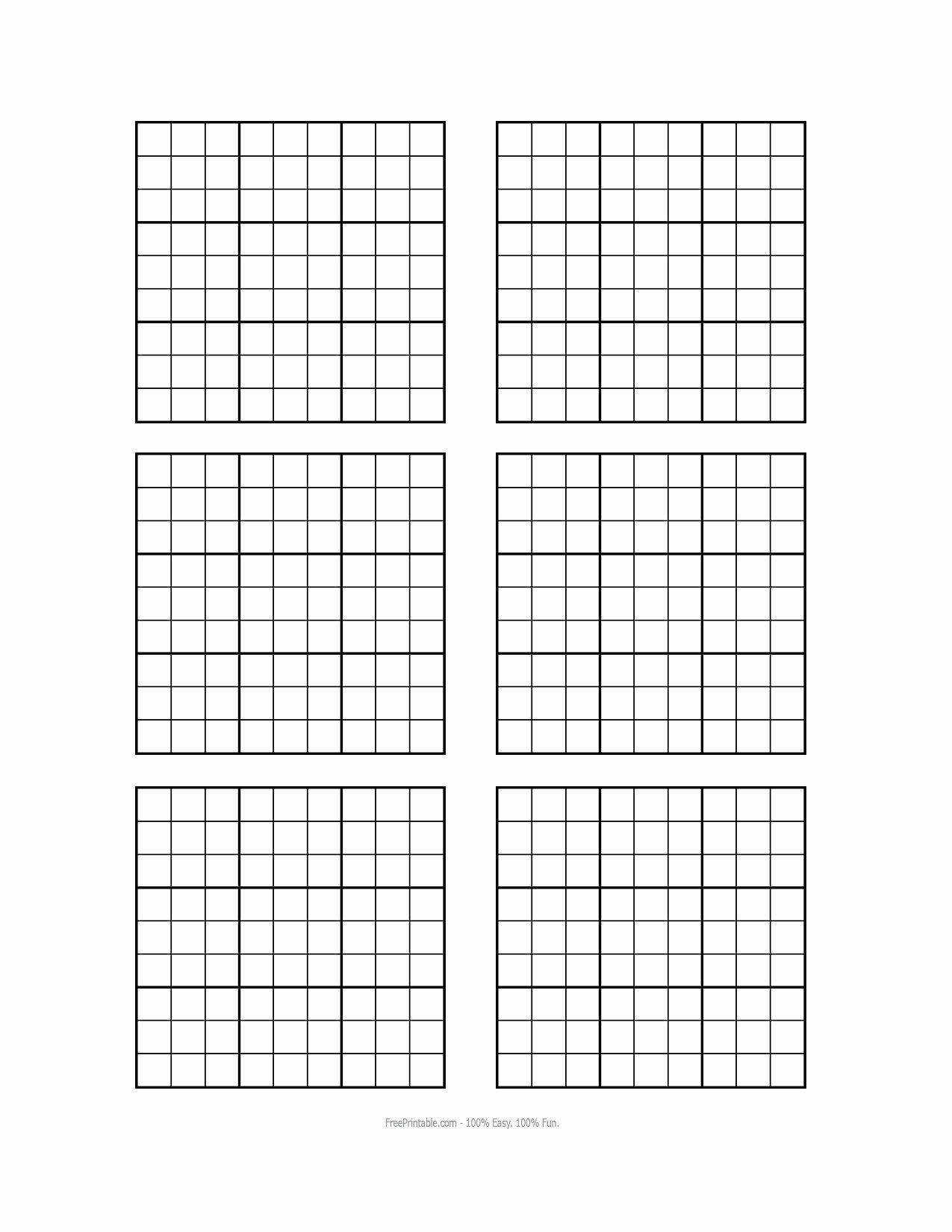 Printable Blank Sudoku 4 Per Page Inspirational Blank Sudoku Printable Pages – Ezzy