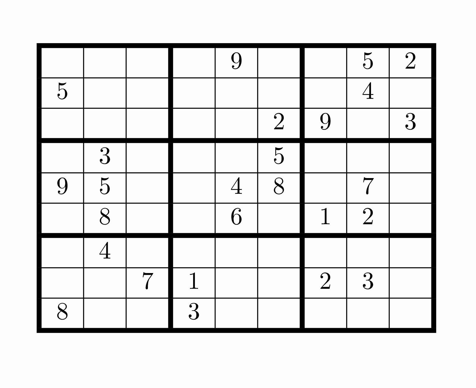 Printable Blank Sudoku 4 Per Page Luxury Blank Sudoku Printable Pages – Ezzy