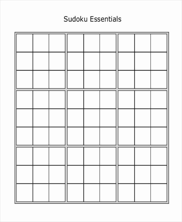 Printable Blank Sudoku 4 Per Page New Blank Sudoku Printable Pages – Ezzy